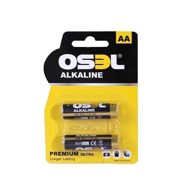 بسته دو عددی باتری قلمی آلکالاین OSEL