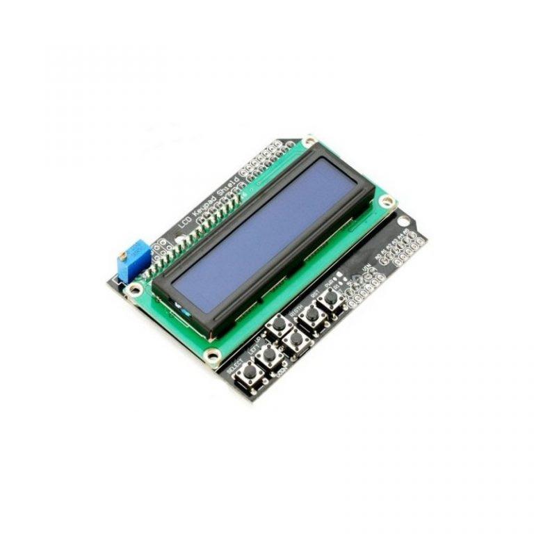 شیلد نمایشگر ال سی دی کاراکتری آردوینو Arduino Shield 2×16 LCD با کیپد