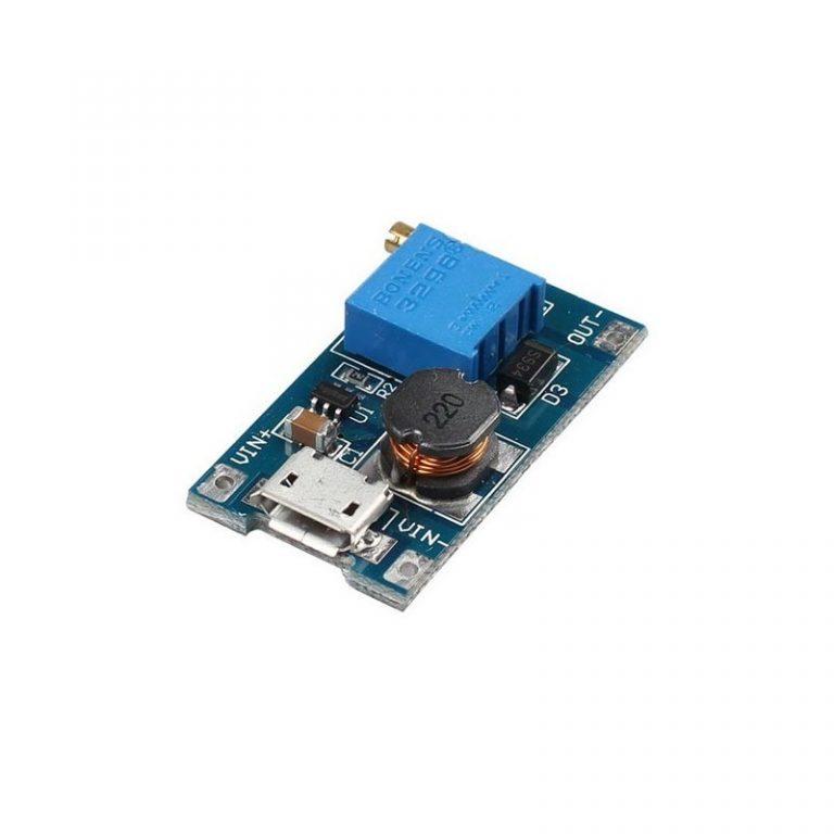 ماژول تغذیه DC to DC Step Up با ورودی Micro USB