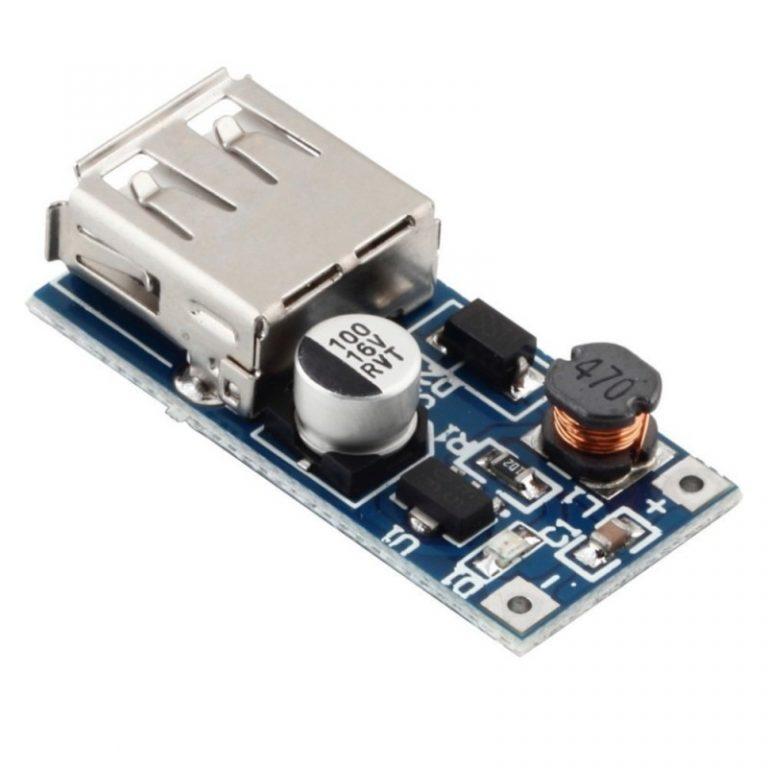ماژول مبدل و تقویت کننده DC to DC usb 600 ma مناسب برای پاور بانک Power Bank
