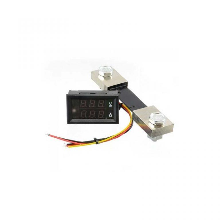 ماژول نمایشگر ولت متر DC و آمپر متر تا 100 آمپر با کابل و شنت مخصوص