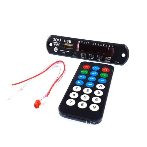 ماژول MP3 Player کنترل دار پنلی بلوتوث دار