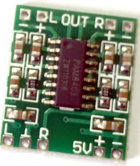 ماژول آمپلی فایر سبز PAM8403 با توان ۳ وات