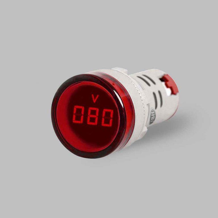 ماژول ولت متر AC پنلی گرد- قرمز