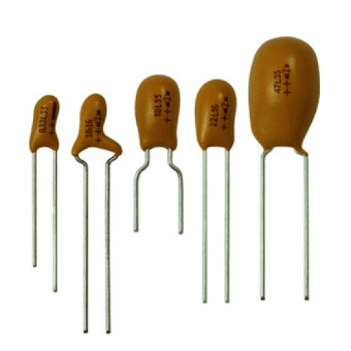 خازن تانتالیوم 0.1 میکرو فاراد 35 ولت
